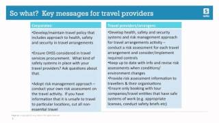 Business Travel Safety: Legal Caution For Travel Providers