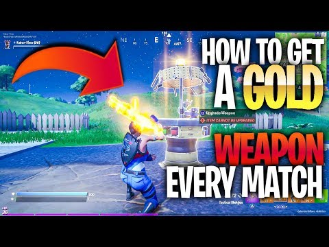 How To Get A GOLD Weapon Every Match! (All Upgrade Station Locations In Fortnite)