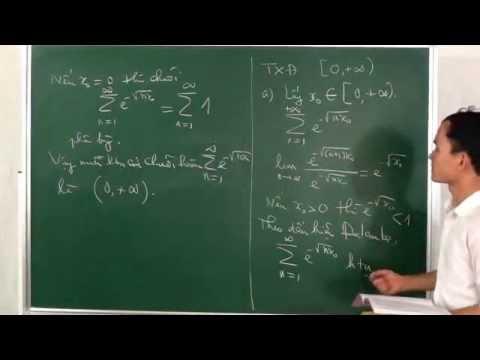 Giải một số bài tập về chuỗi hàm (tiếp)