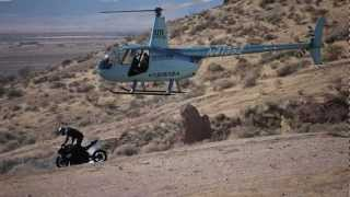 Helicopter Footage From Bill Dixon's Motorcycle Drift Insanity Video