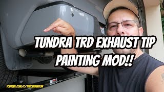 tundra trd exhaust tip painting mod