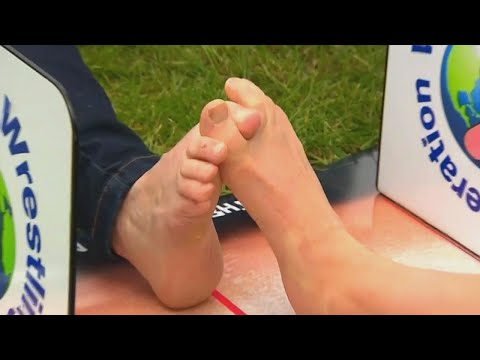 """Image result for Toe wrestling is a competitive sport."""""""