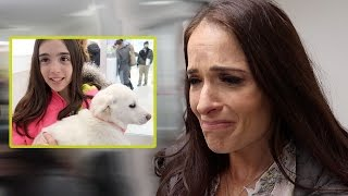 PUPPIES MAKE HER CRY
