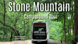 Stone Mountain GA - Fขll Campground Tour with Map