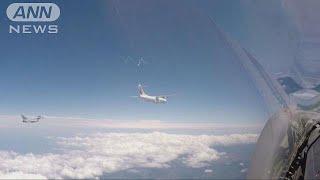 イタリア空軍の戦闘機 JAL系旅客機にスクランブル(19/06/01)