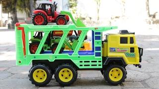 รถของเล่นก่อสร้างมหาสนุก ตอน รถบรรทุกเทเลอร์บรรทุก รถตักดิน รถบรรทุก รถดั้ม Truck for children