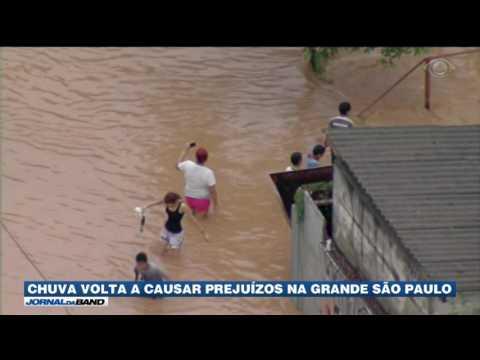 Chuva volta a causar prejuízos na Grande São Paulo