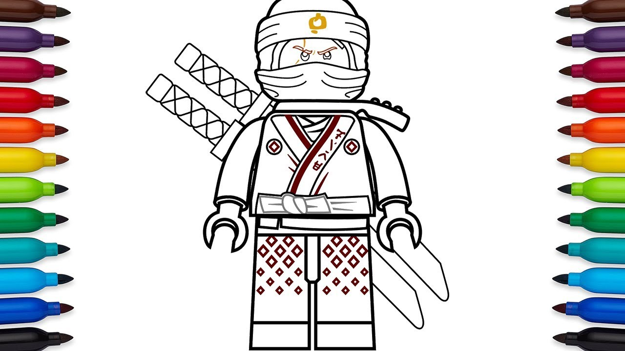 how to draw lego ninjago kai from the lego ninjago movie