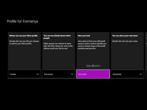 HOW TO CHANGE YOUR REAL NAME ON XBOX ONE 2017