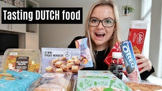 Tasting DUTCH food from the supermarket - Albert Heijn