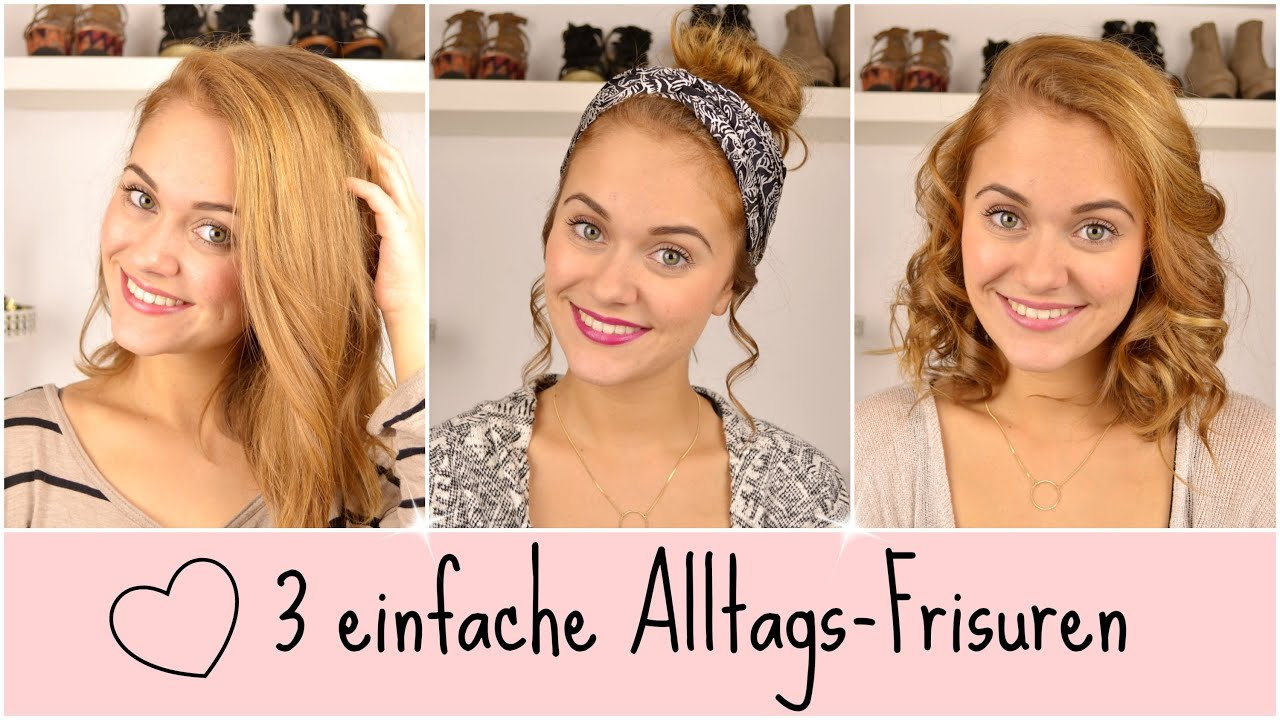 No More Bad Hair Day 3 Einfache Frisuren Schulterlange Haare Snukieful