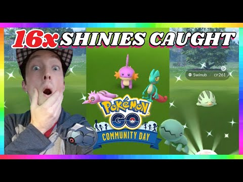Download 16x SHINY POKEMON CAUGHT during DECEMBER COMMUNITY DAY EVENT in Pokemon Go!