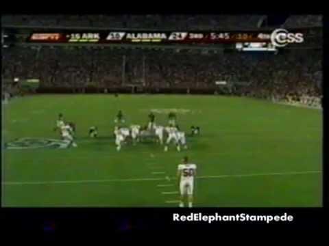 Javier Arenas Punt Return (Alabama vs Arkansas 2007)
