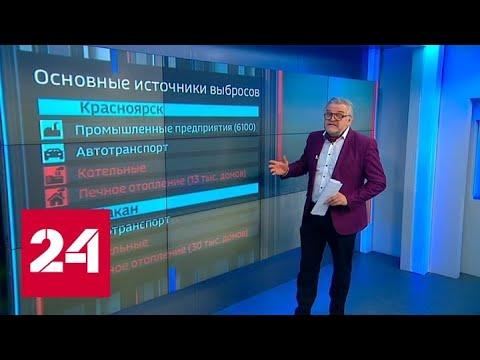 Смог в Сибири: жители Красноярска под балаклавами прячут респираторы - Россия 24
