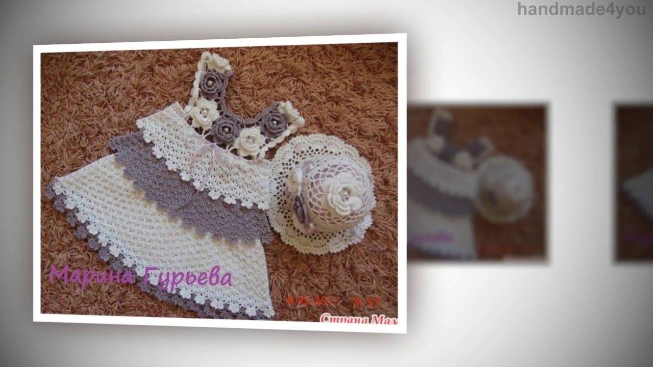 3757d51fb75 Σχεδια για πλεκτα, χειροποιητα ρουχα για κοριτσακια | Handmade4you - YouTube