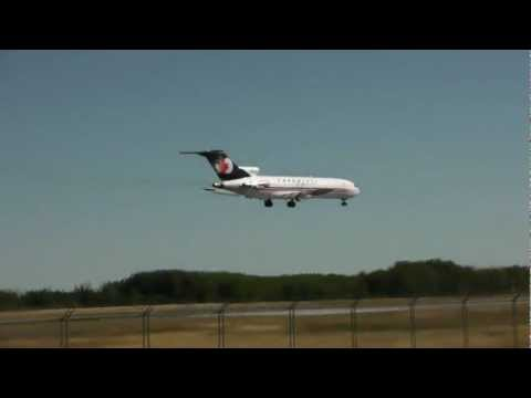 Cargojet | Boeing 727-200 approach and landing | C-GCJZ | Val-d'Or (CYVO)