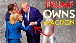 TRUMP Owns Macron (And His Wife) in an INSANE 30 Second Handshake Battle