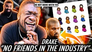 DRAKE ON KANYE NECK! | Drake - No Friends In The Industry (Certified Lover Boy) REACTION