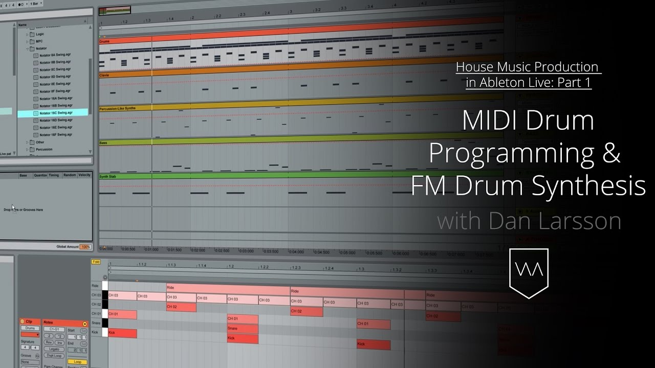 House music production in live midi drum programming for House music midi