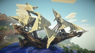 Minecraft Time lapse #2 - Fantastic Ship
