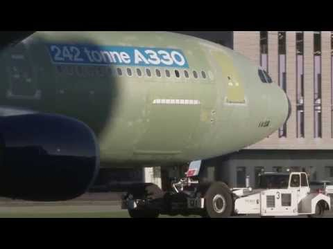 The increased takeoff weight A330 variant's first flight