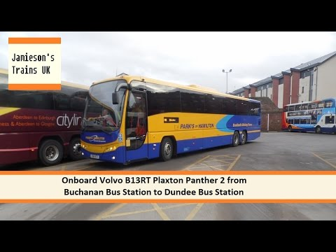 Onboard Volvo B13RT Plaxton Panther 2 from Buchanan Bus Station to Dundee Bus Station