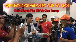 Gặp đội ghe Ngo Wath Pich với cúp vô địch trên chuyến phà Cù Lao Dung ... Quốc Khởi Ghe Ngo
