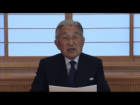 Japan's ageing emperor hints at abdication
