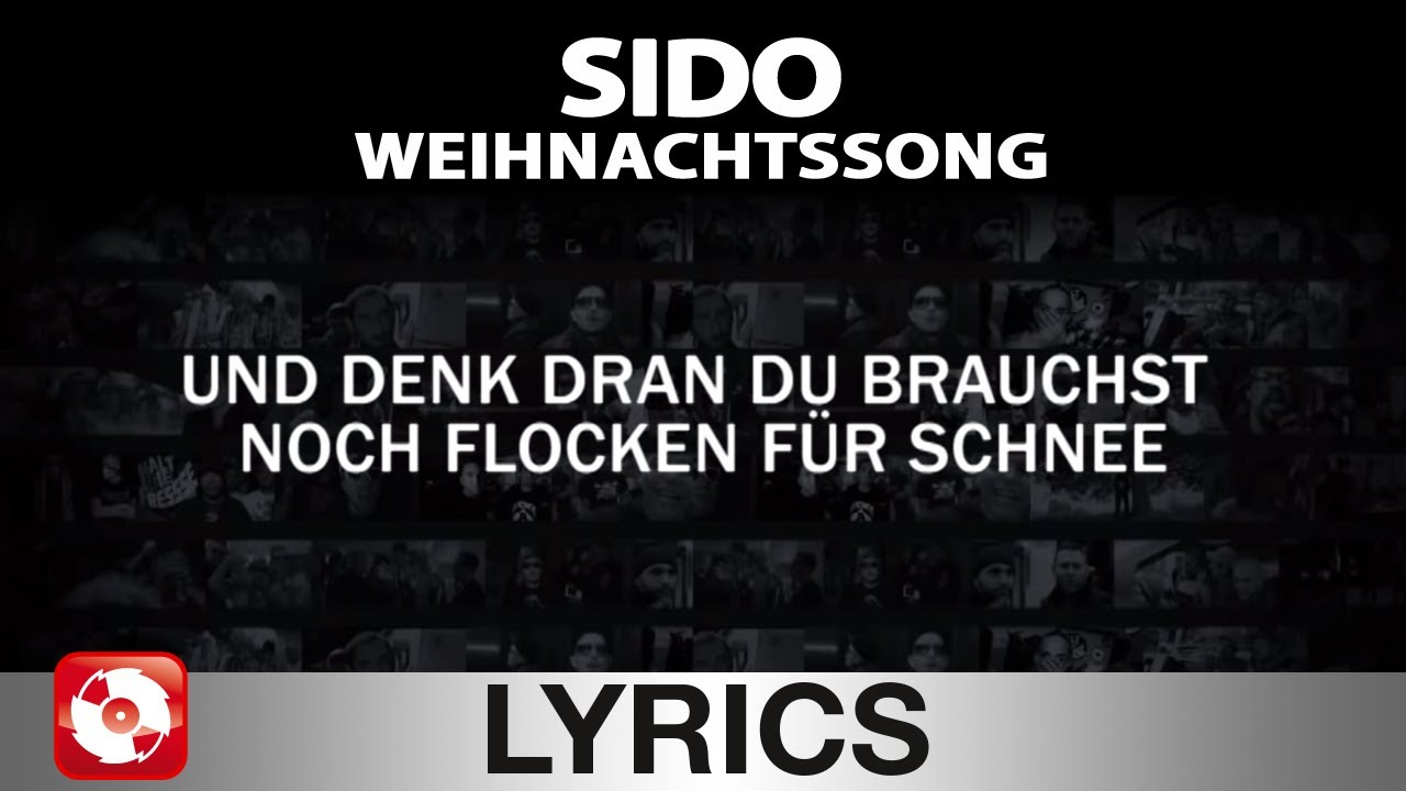 sido weihnachtssong aggrotv lyrics karaoke official. Black Bedroom Furniture Sets. Home Design Ideas