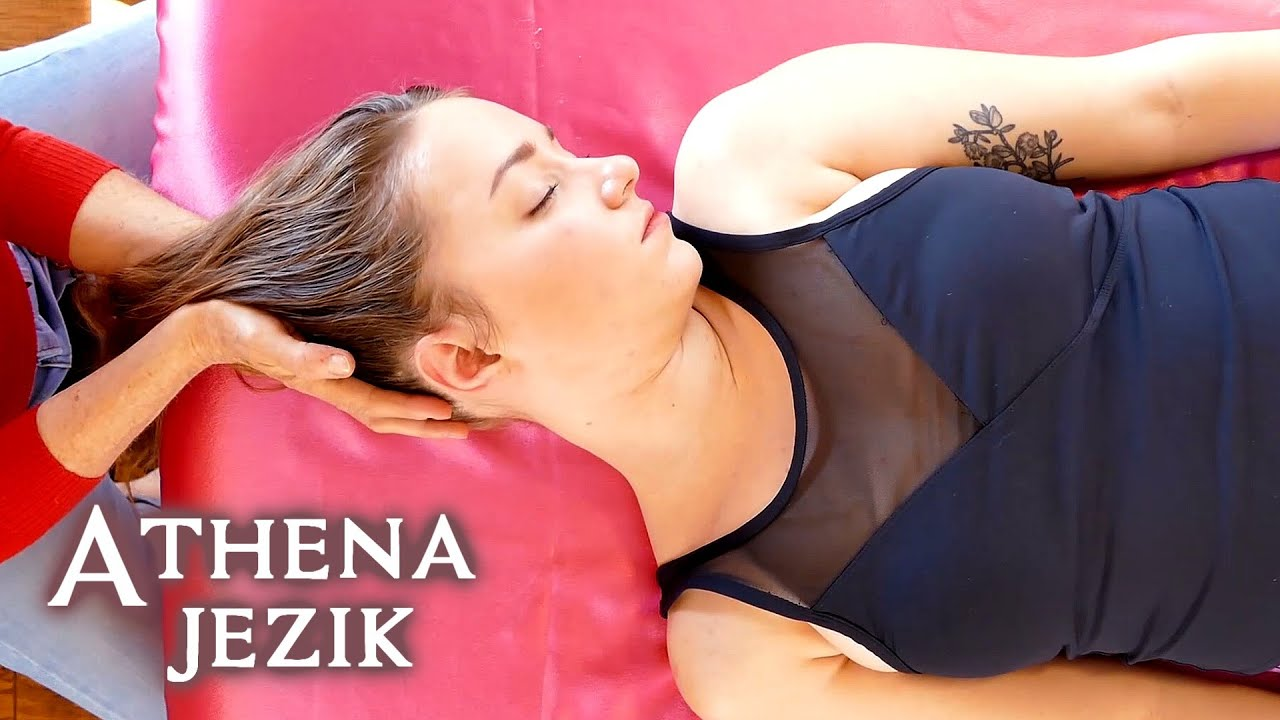 Deeply Relaxing Massage Tutorial with Athena Jezik, Neck Pain Relief, Cranio-Sacral Techniques