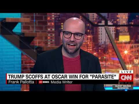 "Trump scoffs at Oscar win for ""Parasite"""