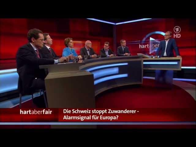 Die Schweiz stoppt Zuwanderer - Alarmsignal für Europa? hart aber fair aus Köln mit Frank Plasberg