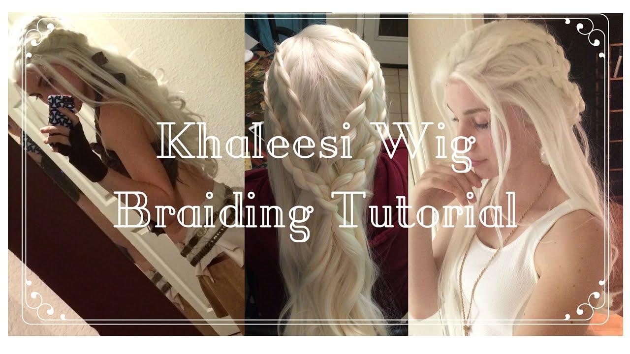 Daenerys targaryen wig braid tutorial lilfaun youtube for Daenerys targaryen costume tutorial