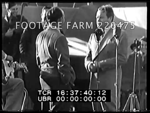 Troops of Santa Ana Base Entertained By Hope And Crosby 220475-50 | Footage Farm