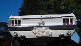 1968 Ford Mustang Inline Six Flowmaster 80 Rear Dual Exhaust