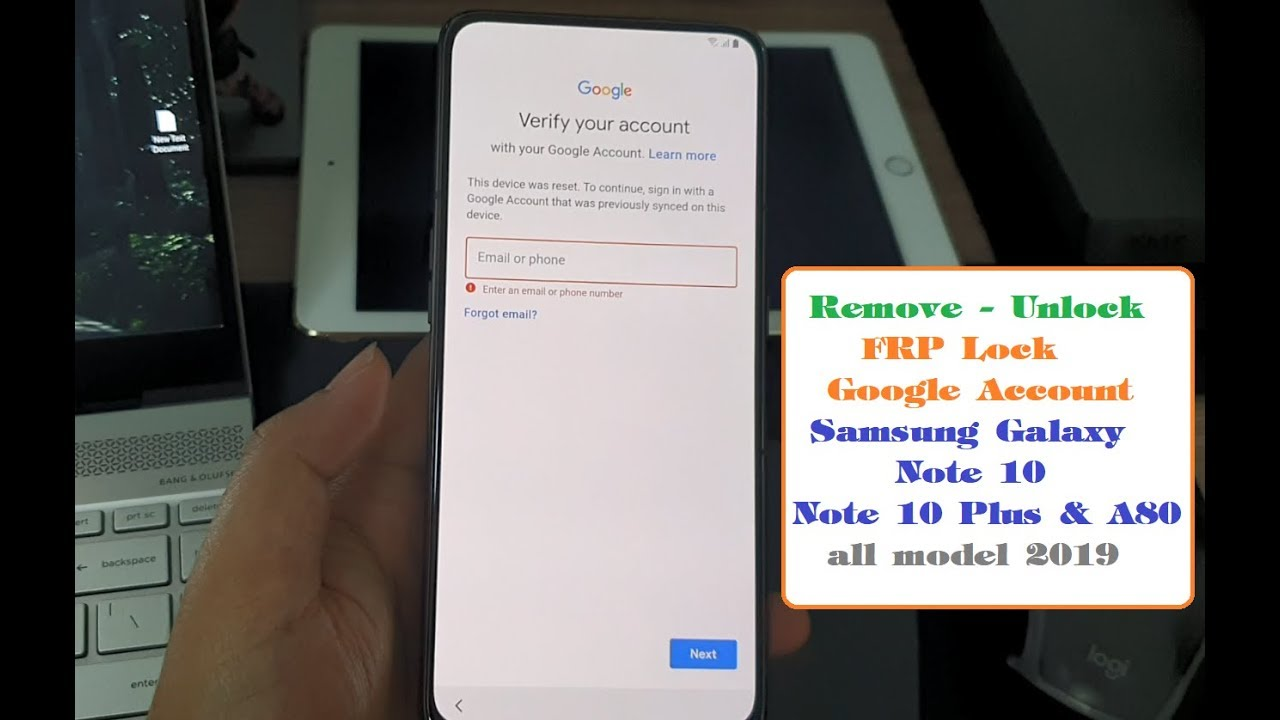 Remove FRP Google Account Samsung Note 10 Note 10Plus A80 all model 2019 by  remotely usb services