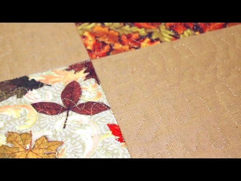 How to Make a Self Binding Placemat for the Holidays - YouTube