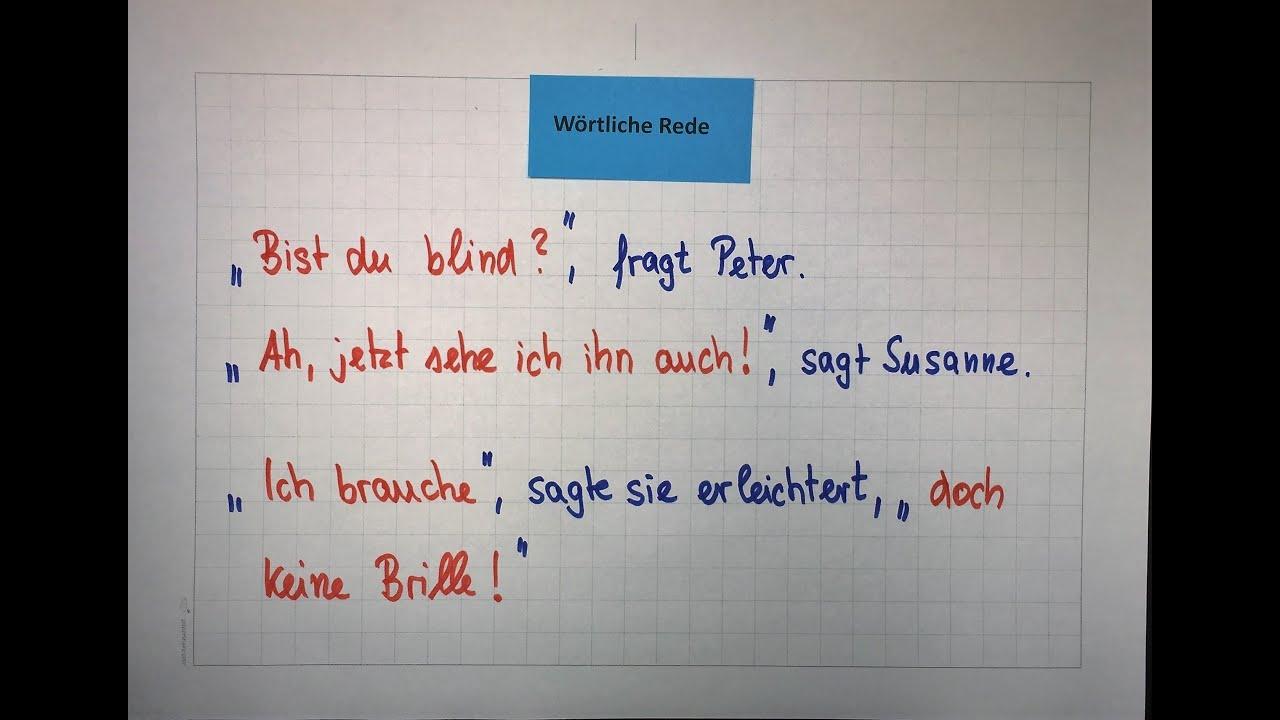 wrtliche rede direkte rede mit beispielen deutsch grammatik lehrerschmidt - Rede Schreiben Beispiel
