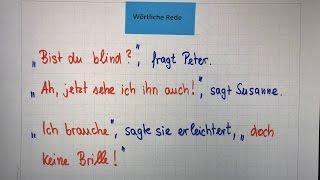 Wörtliche Rede (direkte Rede) mit Beispielen | Deutsch - Grammatik | Lehrerschmidt