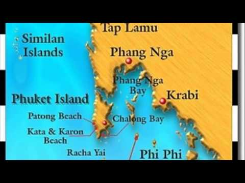 Phi Phi Islands Thailand Map Youtube