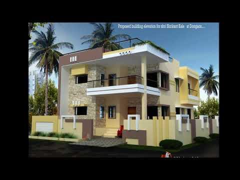simple 2 floor house elevation