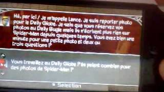 Video test de spider-man le regne des ombres l'union sacrée sur psp.