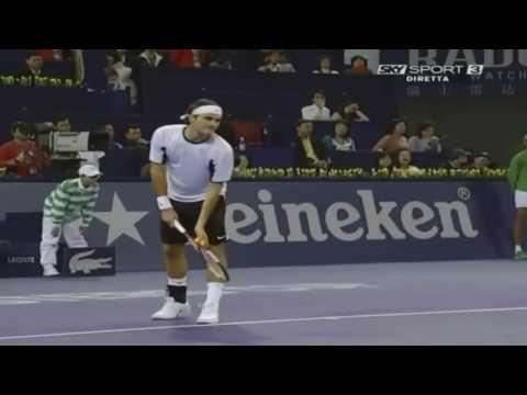 Roger Federer v. Guillermo Coria | Shanghai 2005 RR Highlights