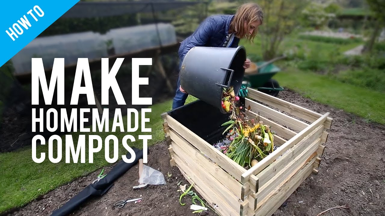 How to make compost at home - YouTube