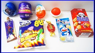 Kinder Joy Surprise egg Cadbury Dairy Milk Lickables Spider Man Chocolates Candies Learn Colors Kids thumbnail