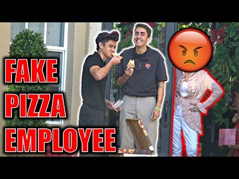 FAKE PIZZA DELIVERY EMPLOYEE PRANK!