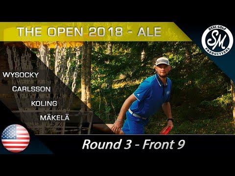 The Open 2018   Round 3 Front 9   Wysocki, Carlsson, Koling, Mäkelä