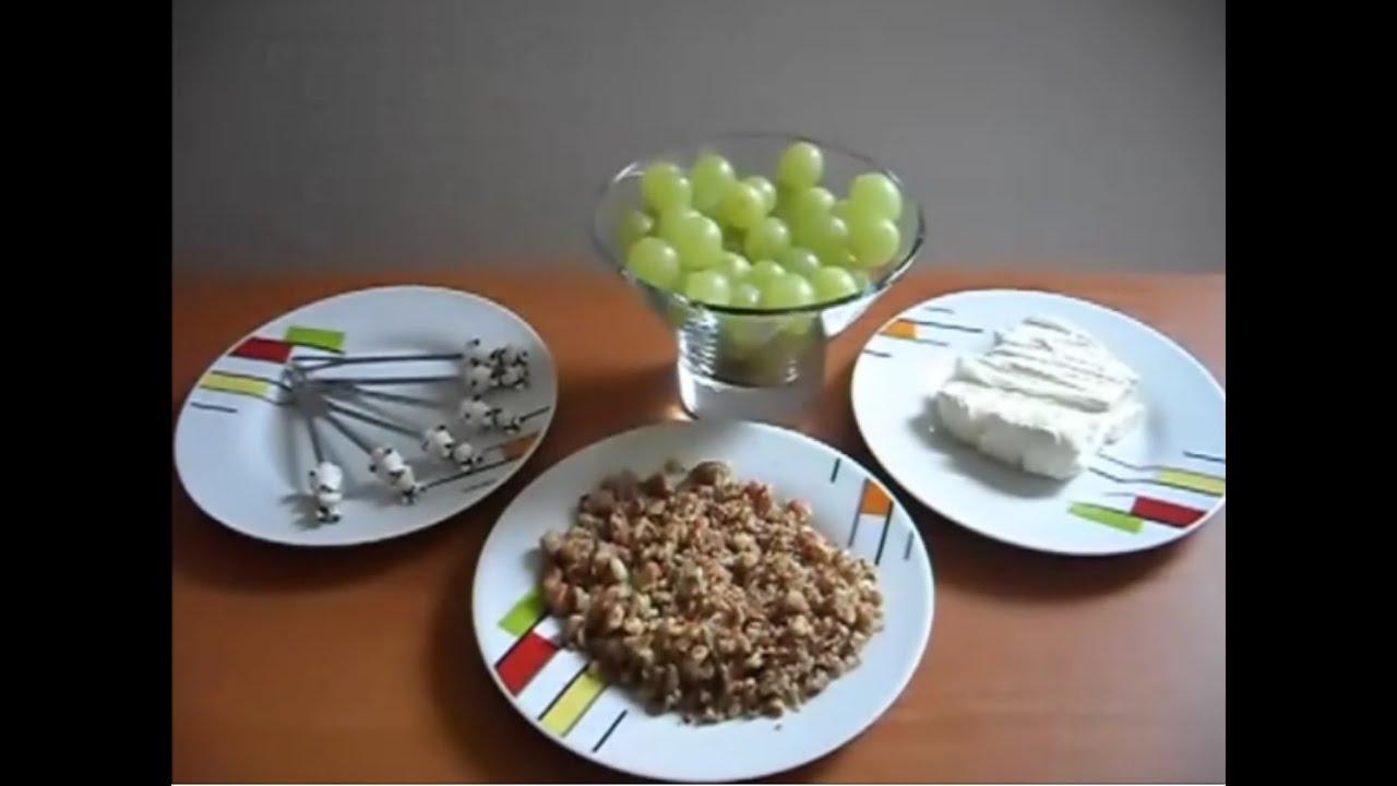 Receta de crema de 3 quesos con uvas