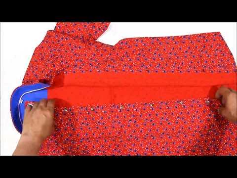 Красная приталенная мужская рубашка Louis Fabel 4351-13 в цветочек с коротким рукавом