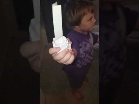 Paper lightsaber